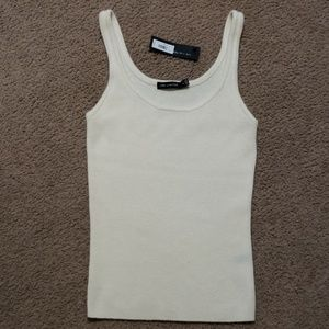 The Limited Cashmere Tank Top Tan Off White NWT S